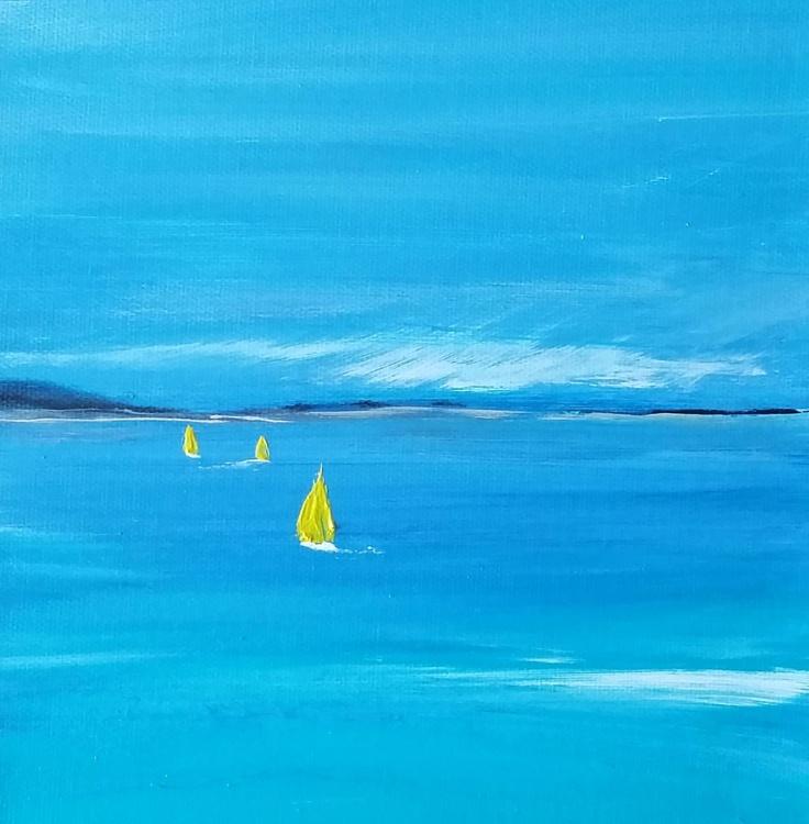 Three little yellow boats - Image 0