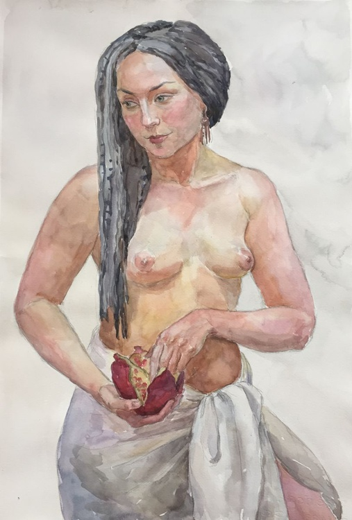 Girl with a pomegranate - Image 0