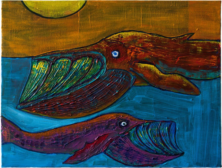 Two Whales - Image 0