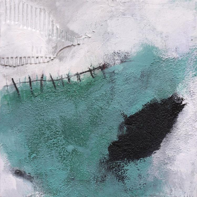 Back to Vernagt | abstract | turquoise white black | Vernagt barrier lake | Work No. 2013.18 - Image 0