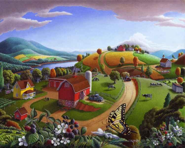 Blackberry Patch Rural Landscape