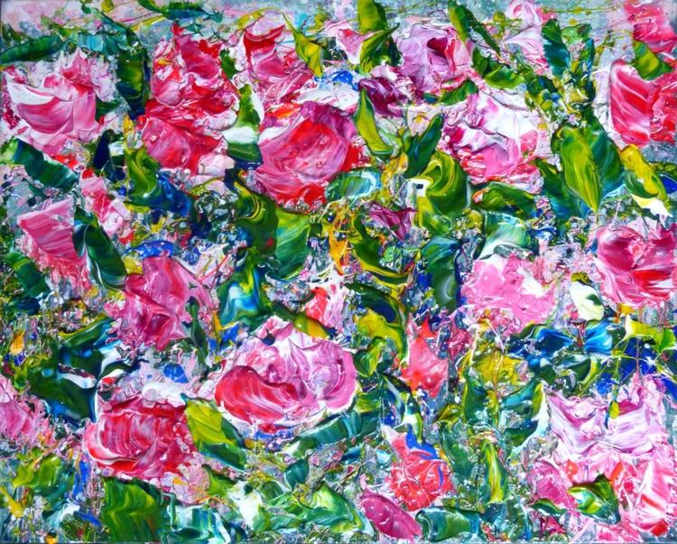 Pink Roses, original painting 50x40 cm - Image 0
