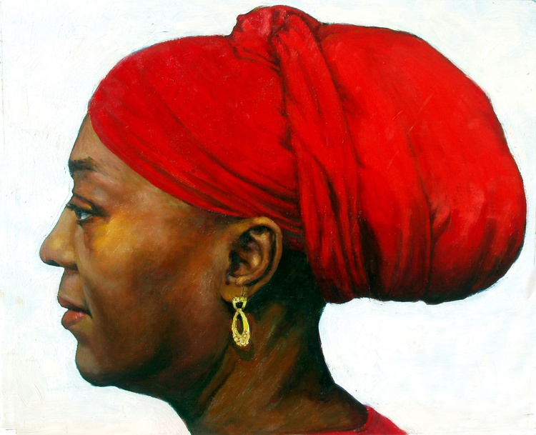 A Red Turban - Image 0
