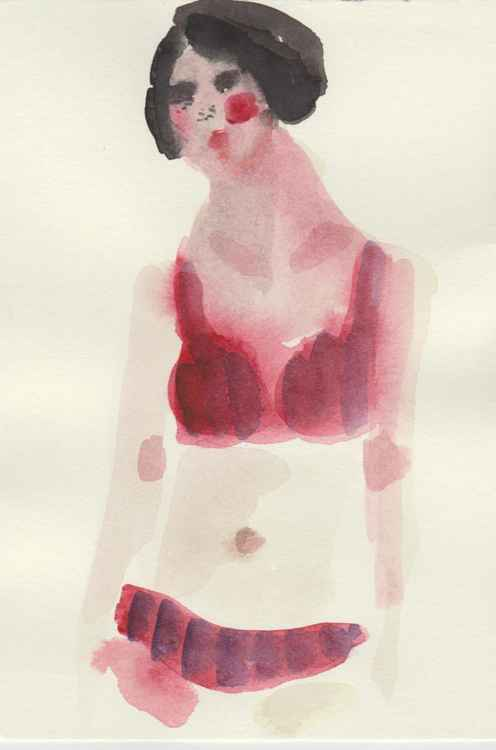 Original Female Figure Art - Lingerie - Fashion Illustration