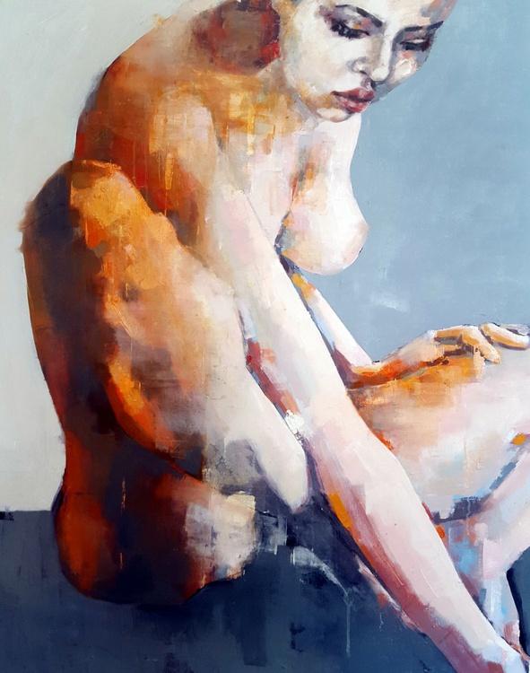 1-10-16 figure study on grey - Image 0