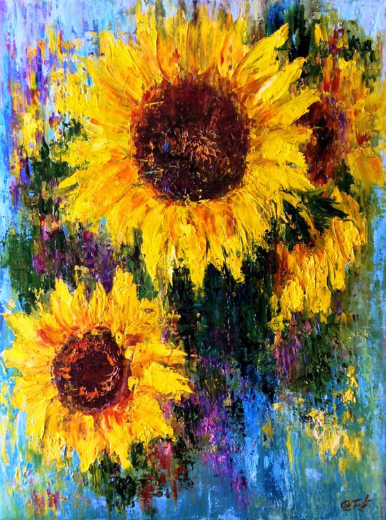 Abstract Sunflowers - Image 0