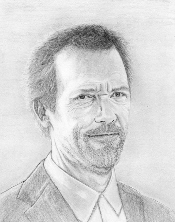 Hugh Laurie pencil portrait - Image 0