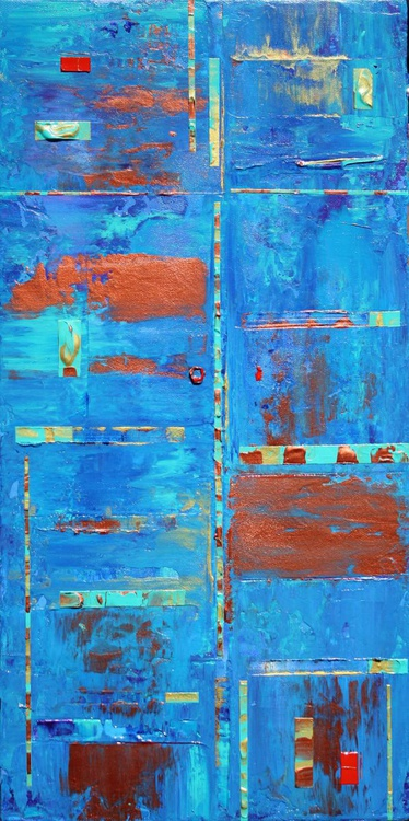 Blue Copper Abstract Expressions - Image 0