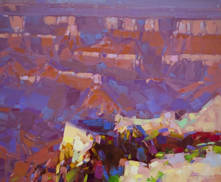 Deep in the Canyon Original oil Painting One of a kind Signed - Image 0