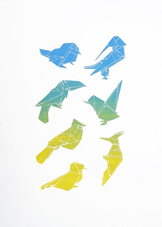 ORIGAMI BIRDS BLUE - Image 0