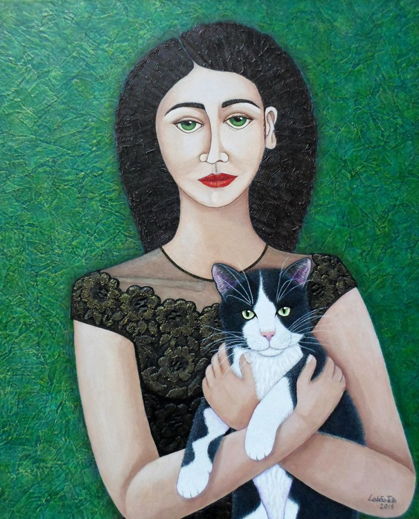 Woman with cat soul - Image 0