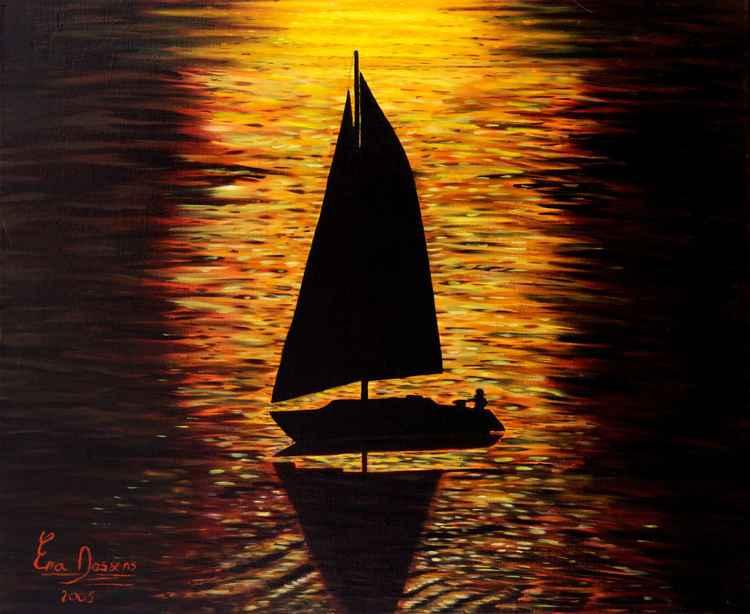 At sunset -