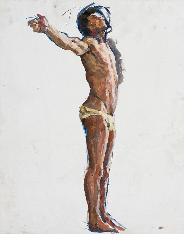 Male Сrucified Figure Study - Image 0