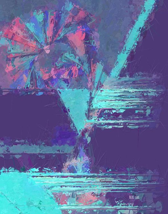 Cotton Candy Pinwheel - Abstract Digital Art - Image 0