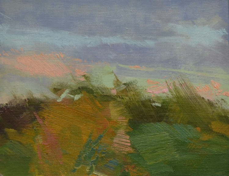 "Plein air landscape painting ""Recollection"" - Image 0"