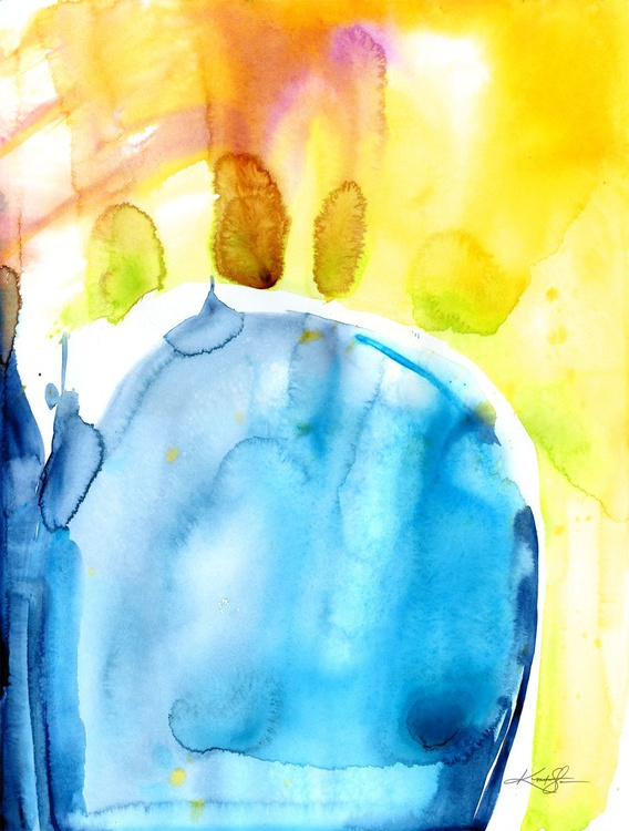 Finding Tranquility 12 - Abstract Zen Watercolor Painting - Image 0