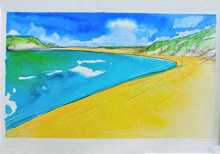 Rock beach, Cornwall -