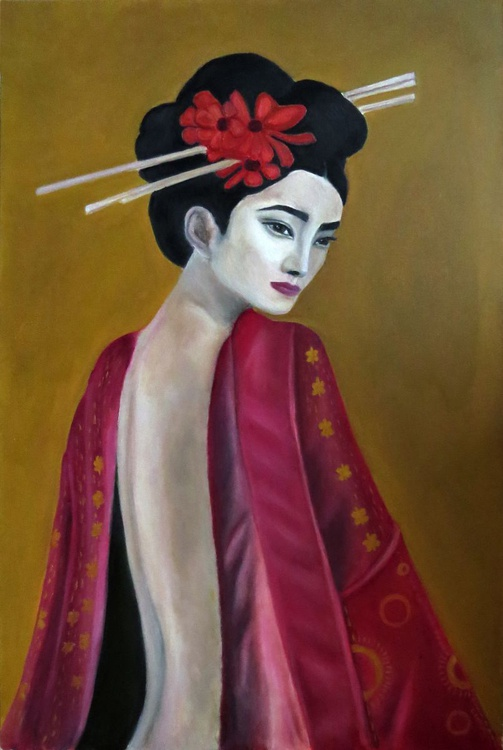 Geisha in red - Image 0