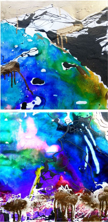 The River of Time, diptych 30x60 cm - Image 0