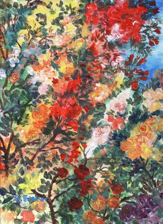 rose lover's garden -
