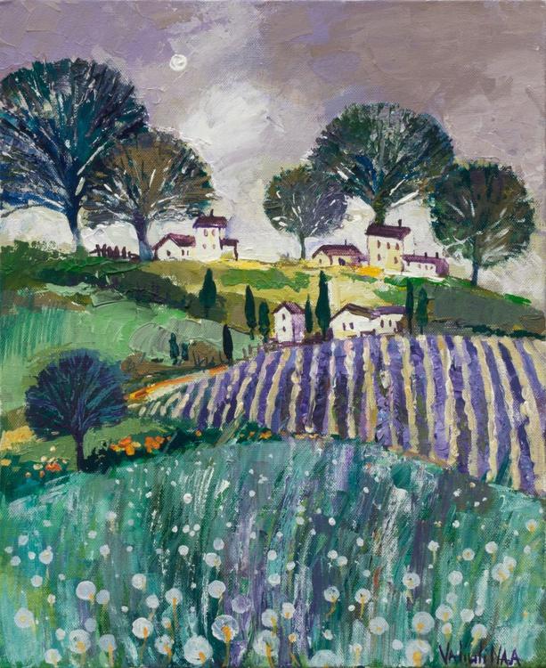 Provence Landscape Original Acrylic Painting - Image 0