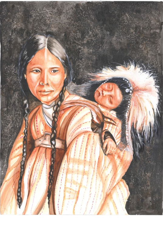 Inuit and Baby - Image 0