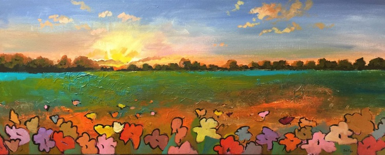 sunset in the field - Image 0