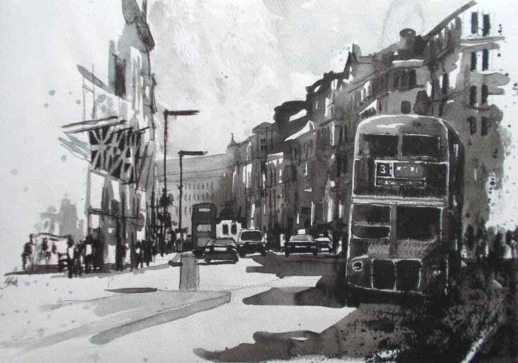 London, Regent Street Black and White