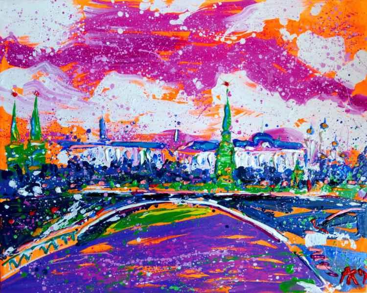 Moskow Sun, oil painting 100x80 cm