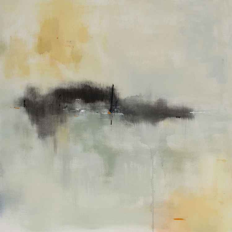 Minimalist Abstract Landscape Painting - Pulled Out of Time