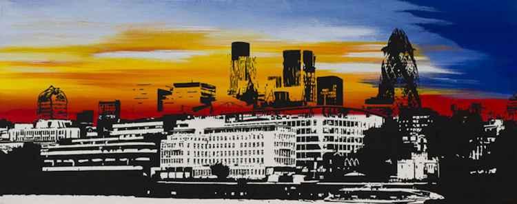 Sunset cityscape -