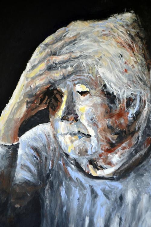An old lady portrait - Image 0