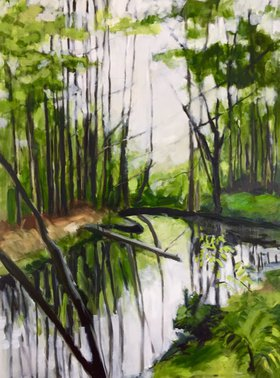 Reflections in the Bog by Domenica Brockman