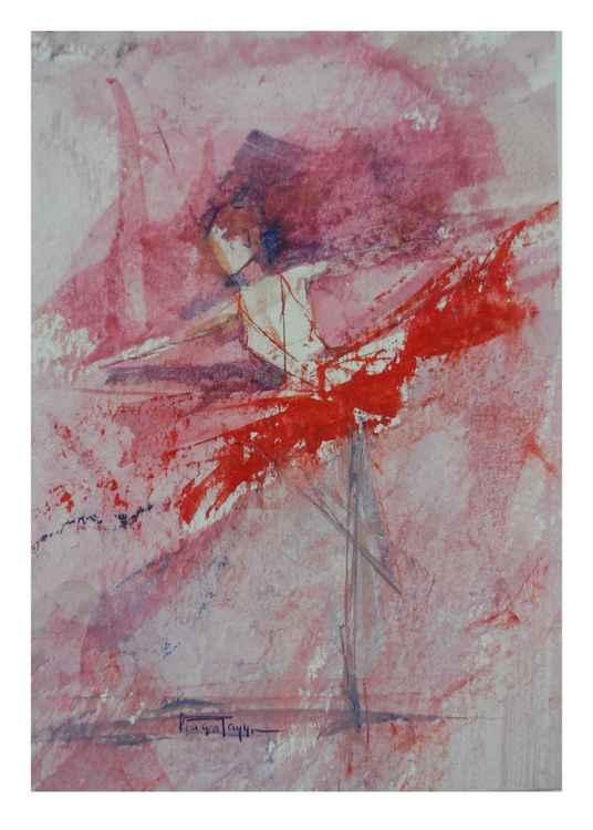 Ballet Dancer (4) mini painting