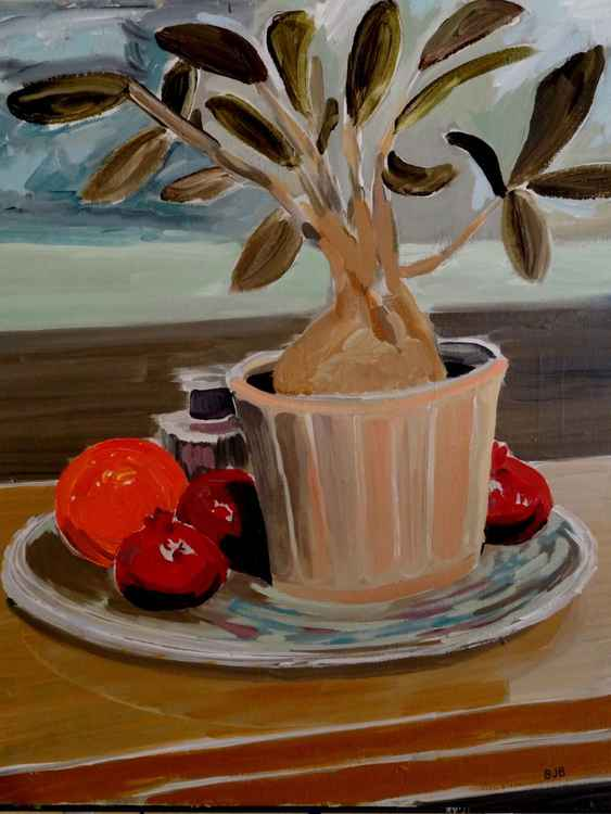 Still Life with Orange -