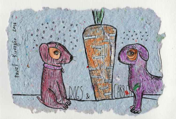 Dogs and carrot