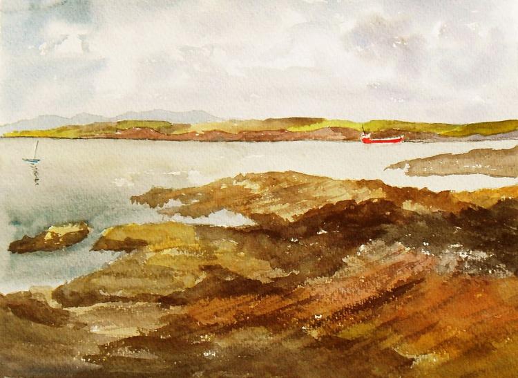 Estuary View - An original watercolour painting near Hook Head, Wexford, Ireland. - Image 0