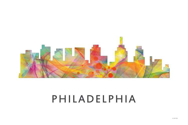 Philadelphia Pennsylvania Skyline WB1 -