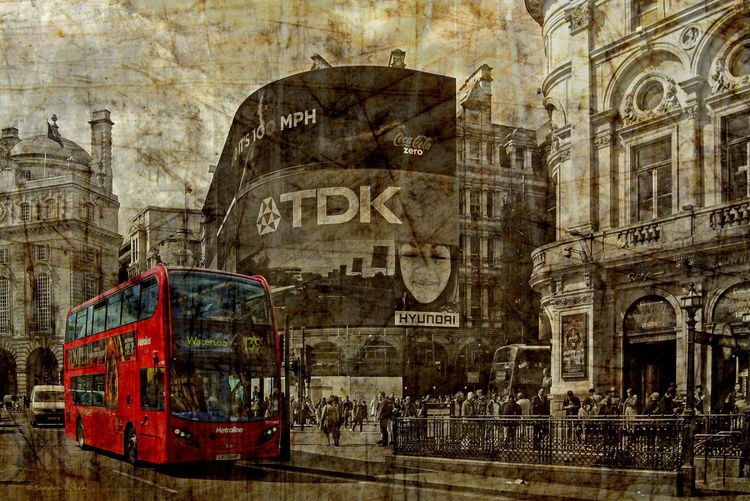 Piccadilly Circus - Canvas 75 x 50 cm - Image 0