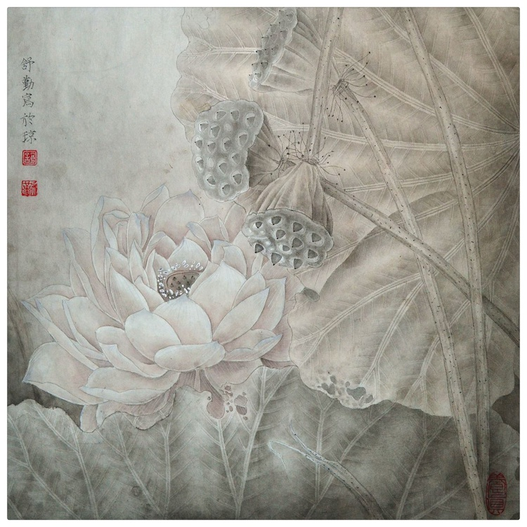 Lotus Flower in the Fall - Image 0