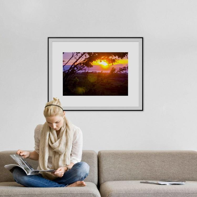 "Calton hill SUNSET : Edinburgh (Limited edition  1/10) 30""X20"" - Image 0"