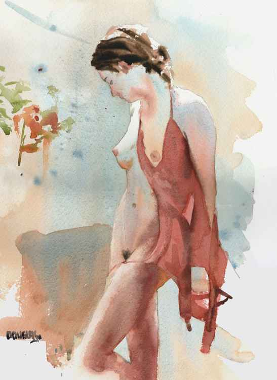 'Nude with a Red Dress'