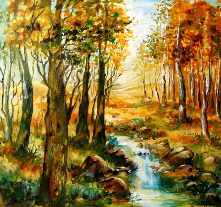 Toamna se imbie, landscape by E.Bissinger