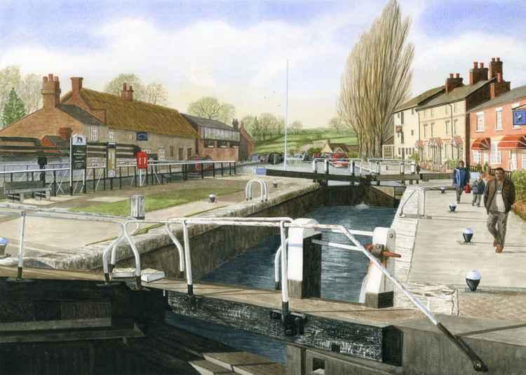 Stoke Bruerne Lock Northamptonshire -