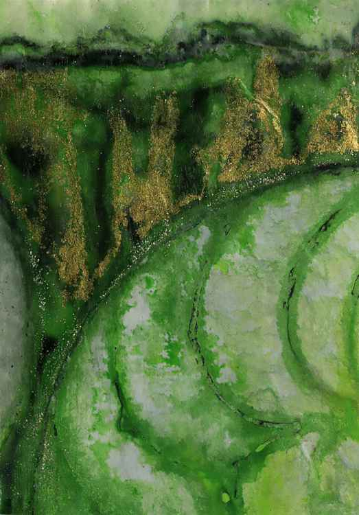 Nature's Rhythm No. 150 - Mixed Media Art -