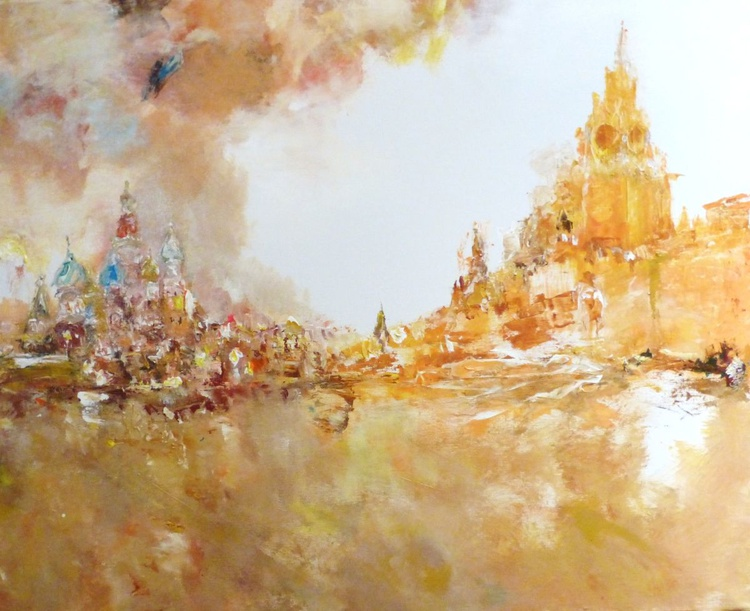 Red square. 90 x 110 cm - Image 0