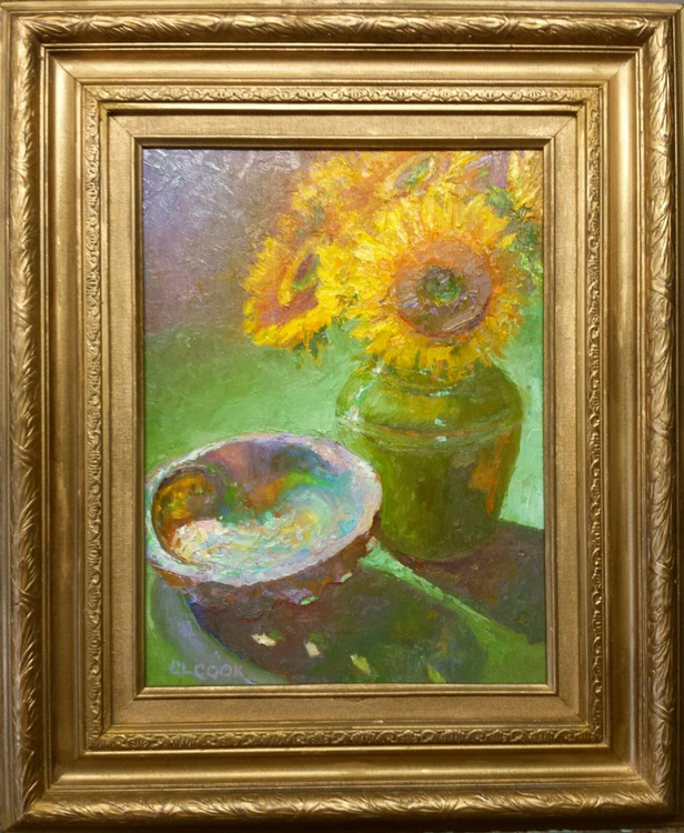 Abalone and Sunflowers - Image 0