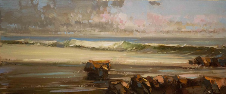 West Coast Highway Oil Painting - Image 0