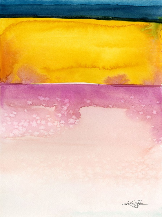 Finding Harmony 6 - Abstract Watercolor Painting - Image 0
