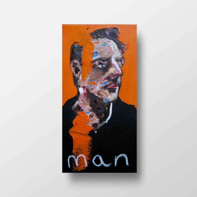 Man on orange